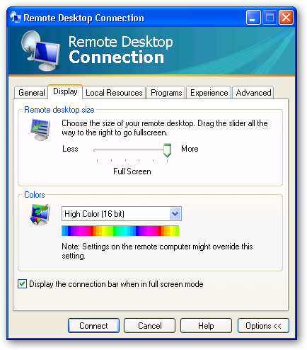 The second RDP 6 Client screen
