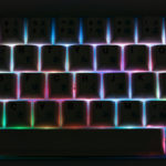 Rainbow SMD LEDs from Zeal60 PCB Behind Enjoy PBT Keycaps - Ryan MacLean